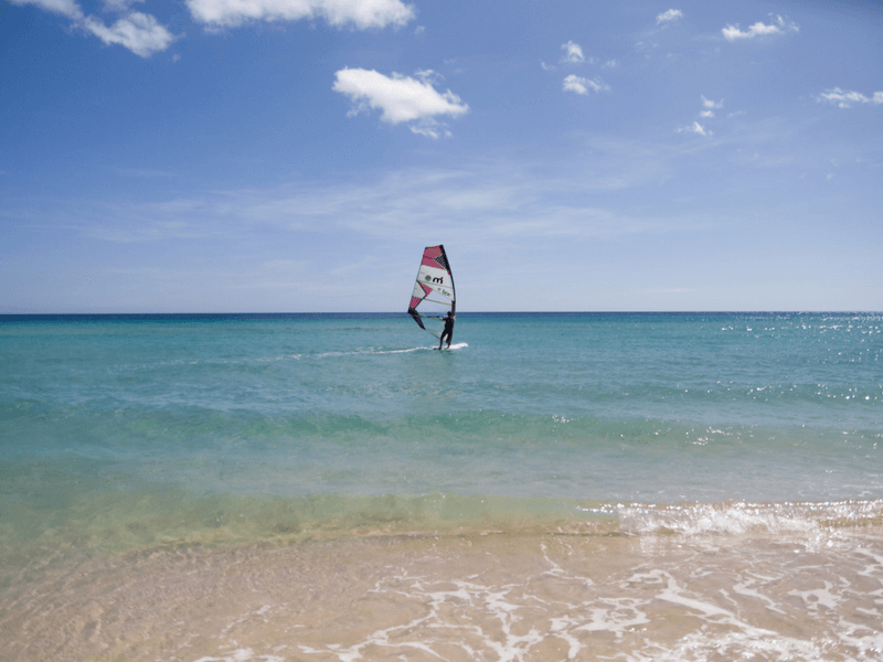 windsurfing in Fuerteventura Canary Islands