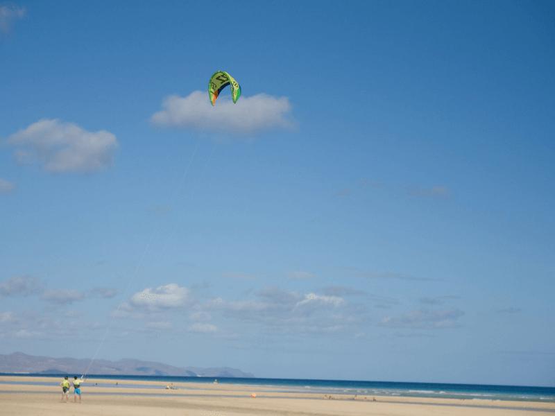 kiteboarding in Fuerteventura