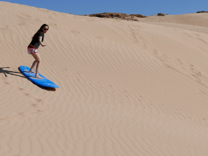 morocco sand surfing