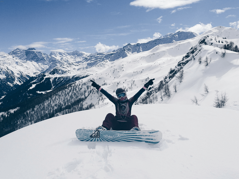 freeride snowboarding in Verbier Swiss Alps