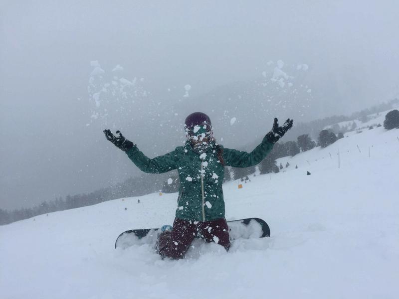freeride snowboarding in Verbier Swiss Alps