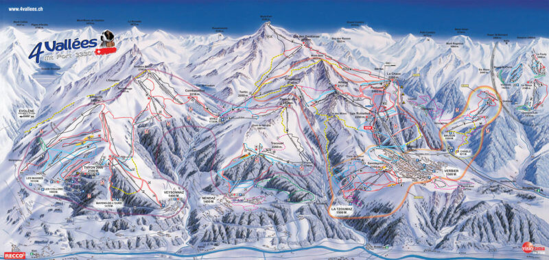 verbier map swiss alps