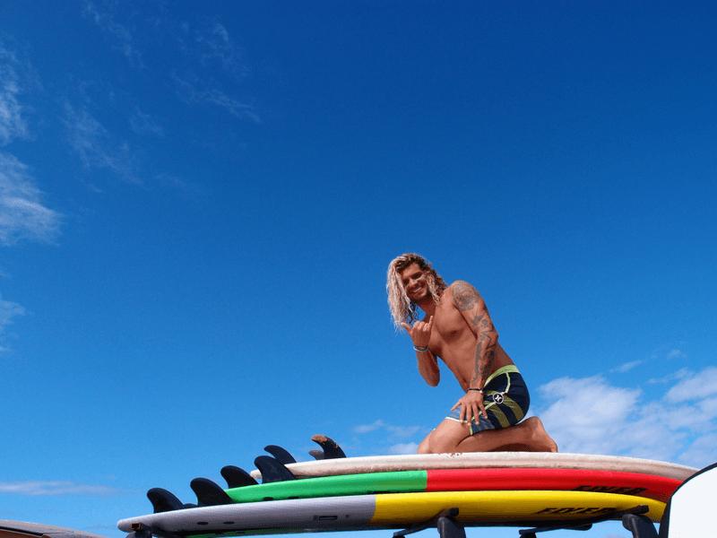 handsome surfing instructor