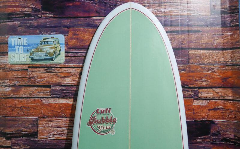 beautiful green surfboard Lufi
